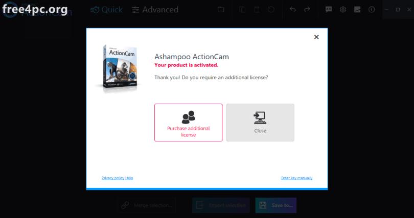 Ashampoo ActionCam Full version