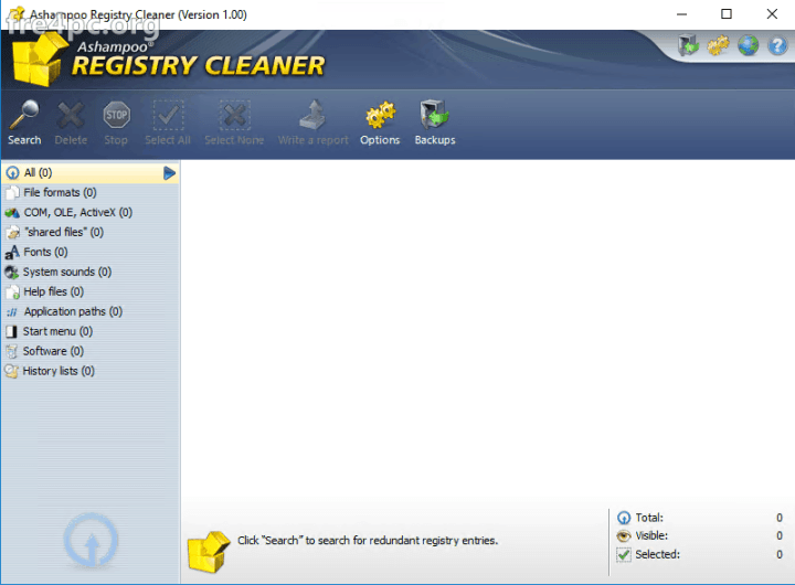 Ashampoo Registry Cleaner 1.00 Full version