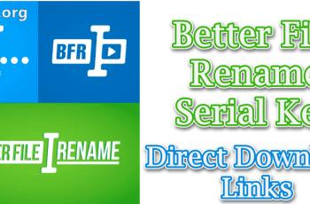 Better File Rename Serial Key