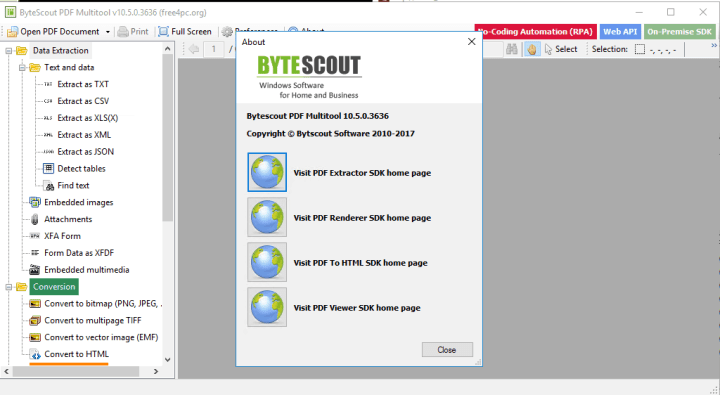 ByteScout PDF Multitool 10.5.0.3636 Business Key