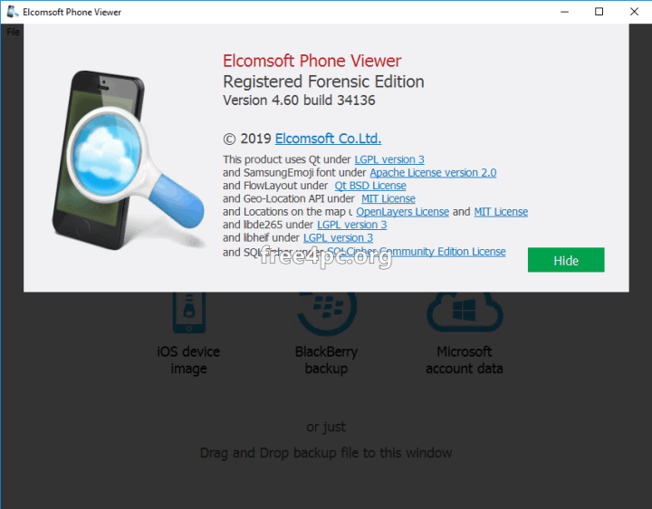 Elcomsoft Phone Viewer Forensic Edition Crack free download