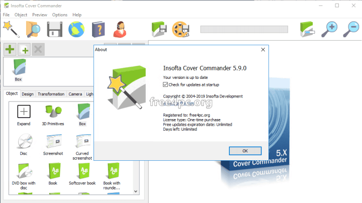 Insofta Cover Commander 5.9.0 Serial key