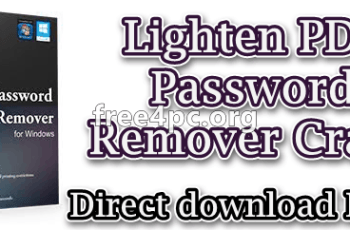Lighten PDF Password Remover Crack