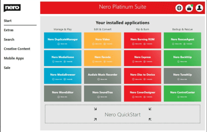 Nero Platinum 2020 Suite License Key
