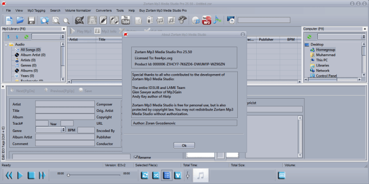 Zortam Mp3 Media Studio Pro 25.50 Serial Key