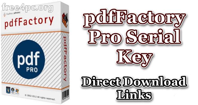 pdfFactory Pro Serial Key