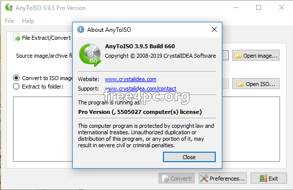 AnyToISO Professional 3.9.5 Build 660 Crack