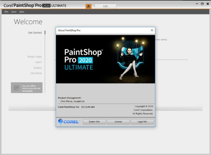 Corel PaintShop Pro 2020 Ultimate 22.1.0.44 keygen
