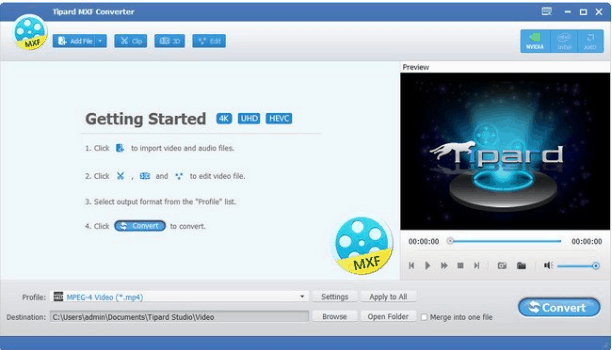 Tipard MXF Converter Full Version