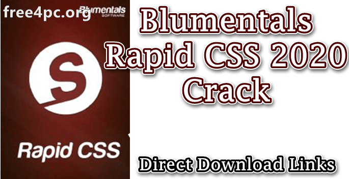 Blumentals Rapid CSS 2020 Crack