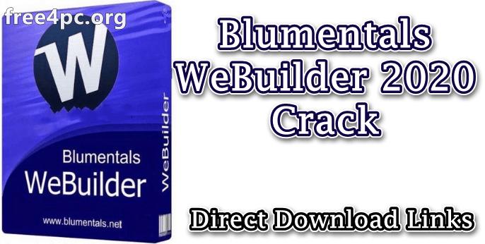 Blumentals WeBuilder 2020 Crack