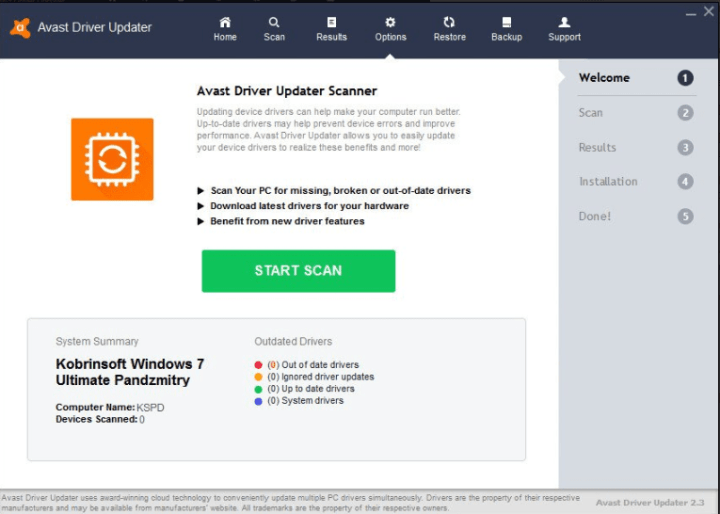 Avast Driver Updater Activation Key 2020