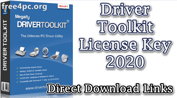 Driver Toolkit License Key 8 6 01 Crack Latest Version 2020