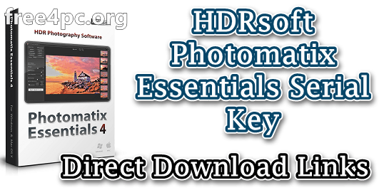 HDRsoft Photomatix Essentials Serial Key