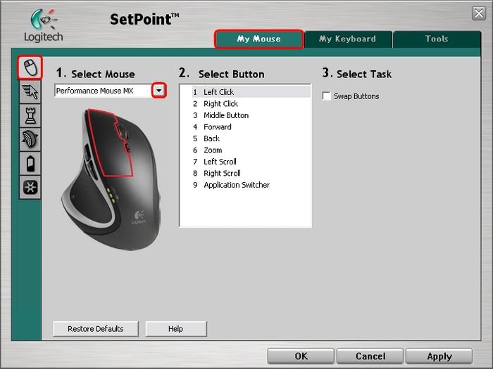 羅技滑鼠鍵盤驅動程式 Logitech SetPoint