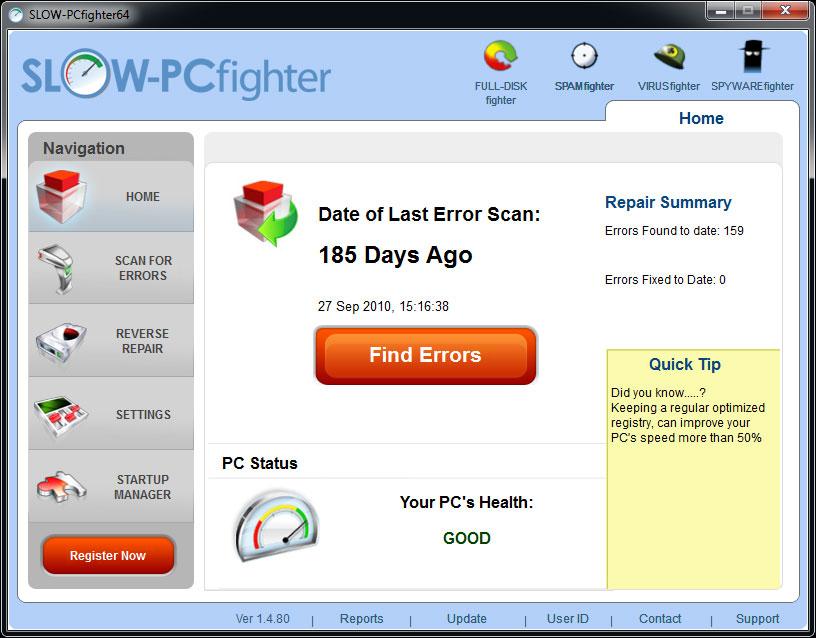 電腦變慢怎麼辦 SLOW-PCfighter 幫你解決