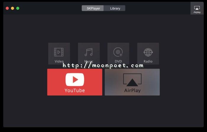 4K影片播放軟體 5KPlayer 支援 AirPlay 的影音播放器