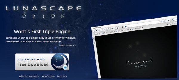 速度超快的三核心網頁瀏覽器 LunaScape瀏覽器繁體中文免安裝版
