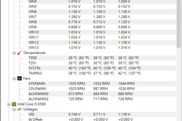 cpu溫度偵測軟體 – HWMonitor 免安裝