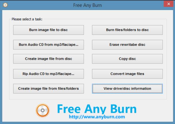 Anyburn – 輕巧的燒錄軟體免費版