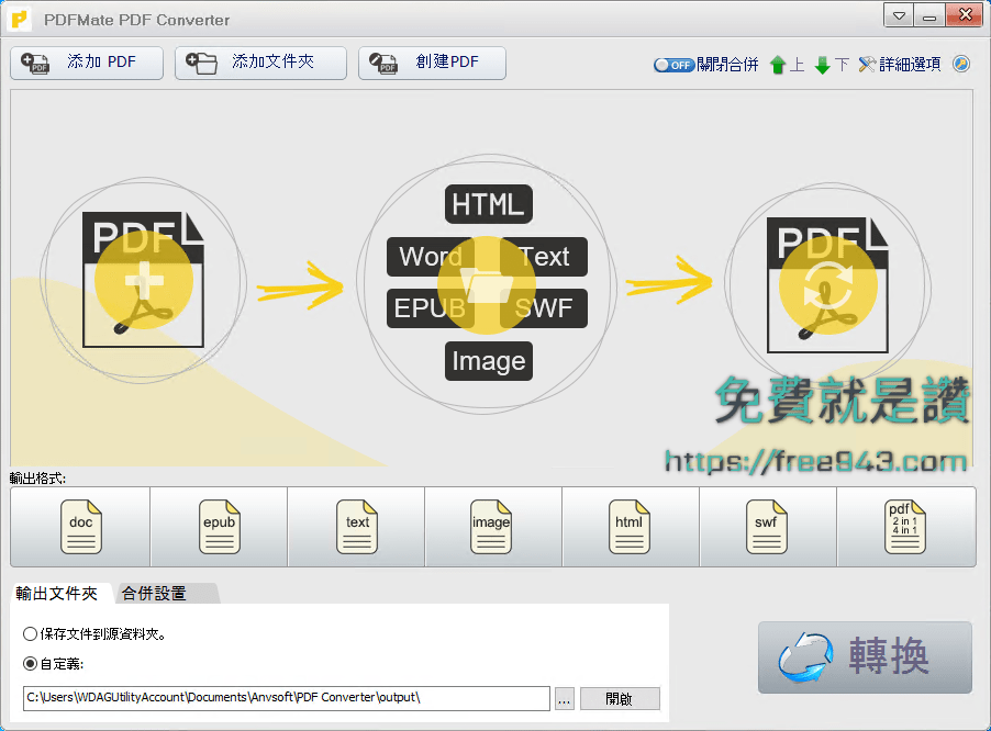 PDF轉Word、JPG、ePub、PDF合併 PDFMate PDF Converter Free
