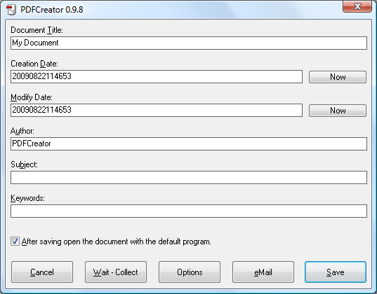 word轉pdf軟體下載 PDFCreator PDF轉檔工具