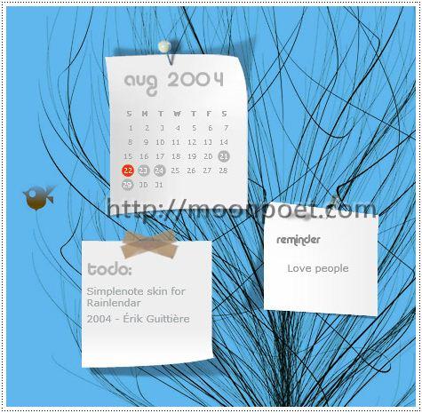 桌面月曆2015下載 rainlendar中文軟體