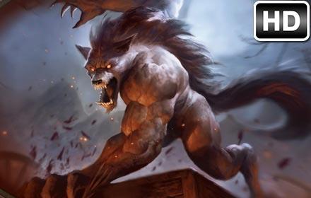 Puppies In Fall Wallpaper Werewolf Wallpaper Werewolves New Tab Themes Hd