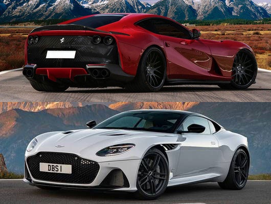 Legends Of The Fall Wallpaper Cars Battle Ferrari 812 Superfast Vs Aston Martin Dbs