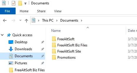 Folders Example
