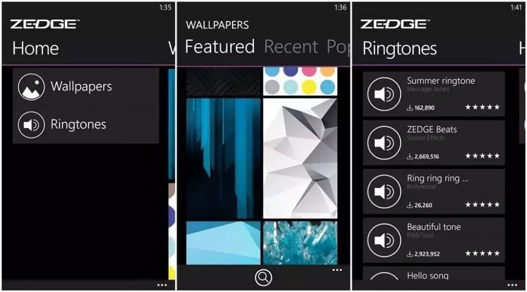 zedge app ringtone download