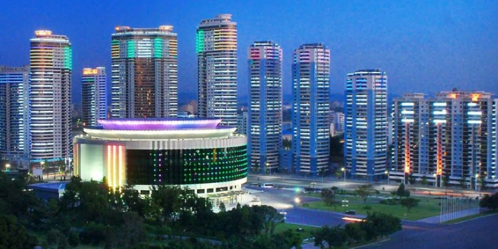 Changjon Street Pyongyang - A View of North Korea New Town. Units are priced at $100k each. Photo Credit: BusinessKorea