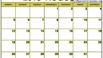 free august 2018 calendar template editable printable download