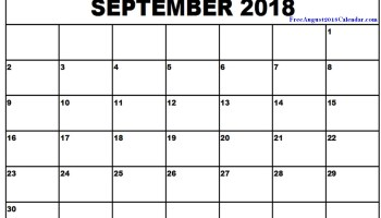Free August 2018 Calendar Template Editable Printable Download