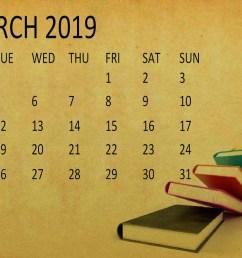 cute march 2019 calendar clipart [ 1024 x 768 Pixel ]