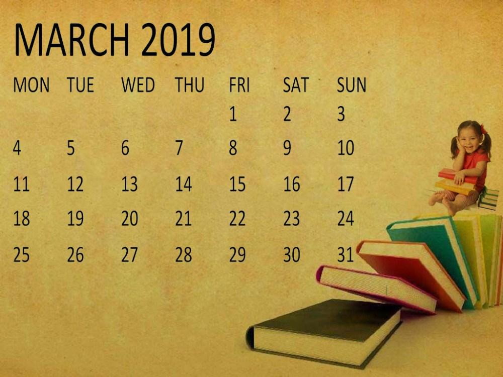 medium resolution of cute march 2019 calendar clipart