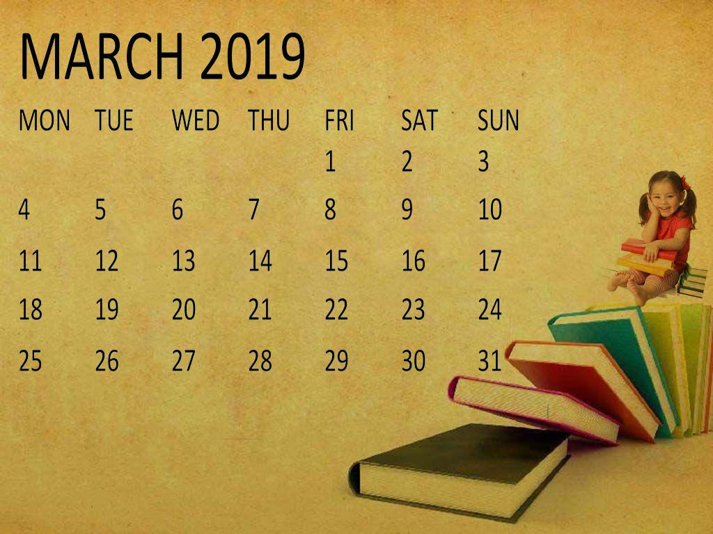hight resolution of cute march 2019 calendar clipart