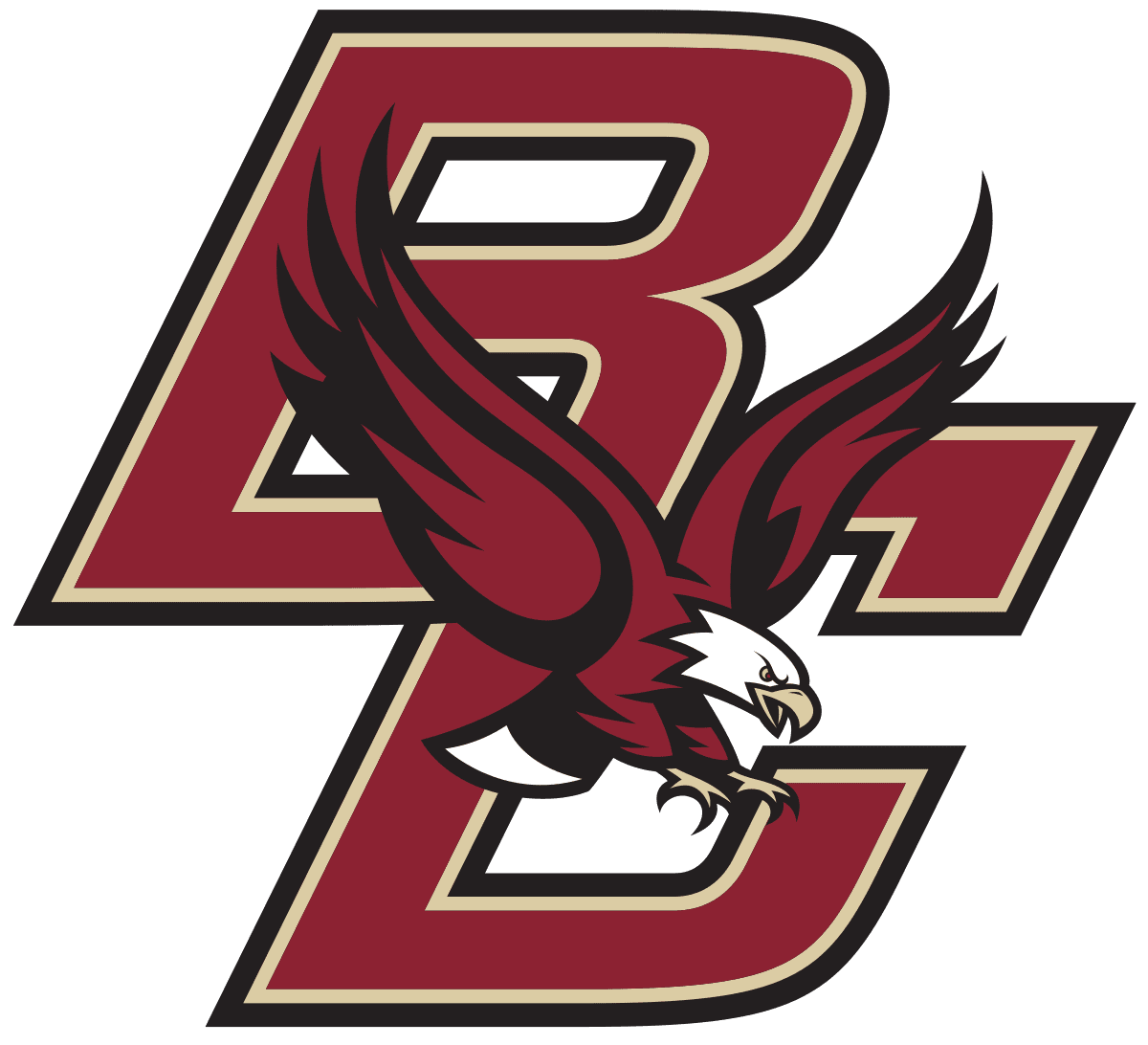 FreeAxez Client - Boston College (Maroon Font with Gold trim) Logo