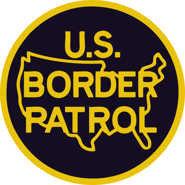 FreeAxez Client - U.S> Border Patrol (Black Patch with Yellow Font and Border) Crest