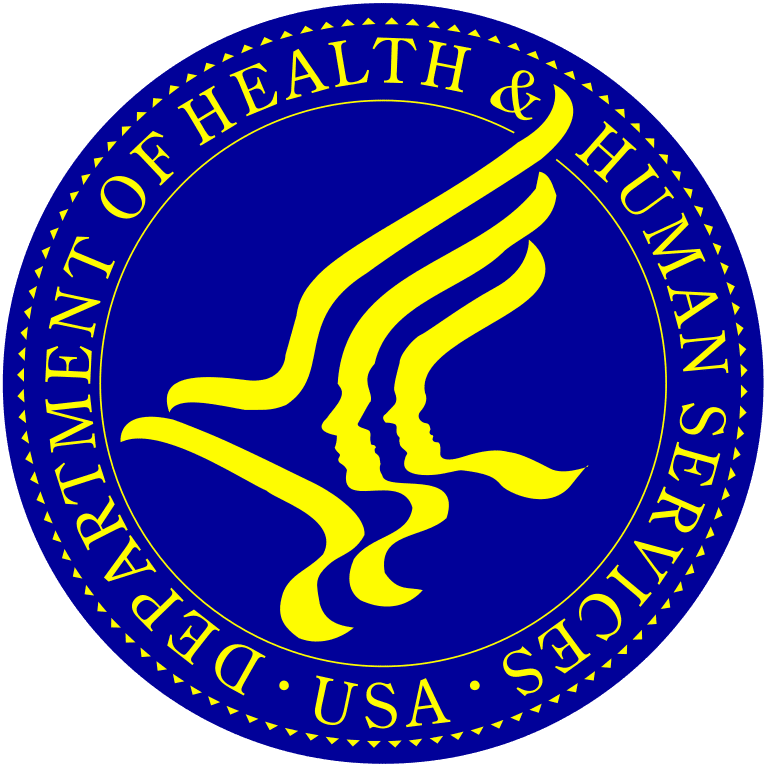 FreeAxez Client - United States Department of Health and Human Serivces Crest (Blue Crest with Yellow Font)