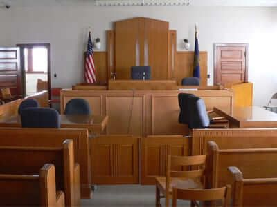 Low Profile Access Floor in Court Room