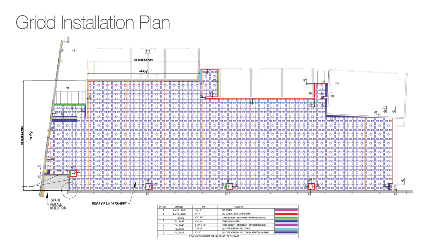 Gridd Raised Flooring Companies Installation Plan