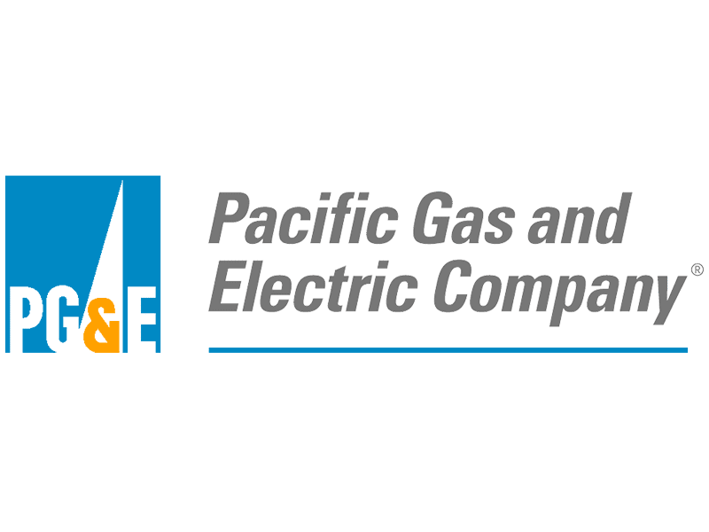 FreeAxez Client- Blue Box with PG & (Yellow) E - Pacific Gas and Electric Company Logo