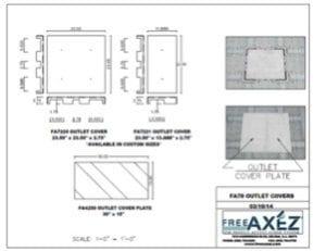 Raised access flooring floor plan