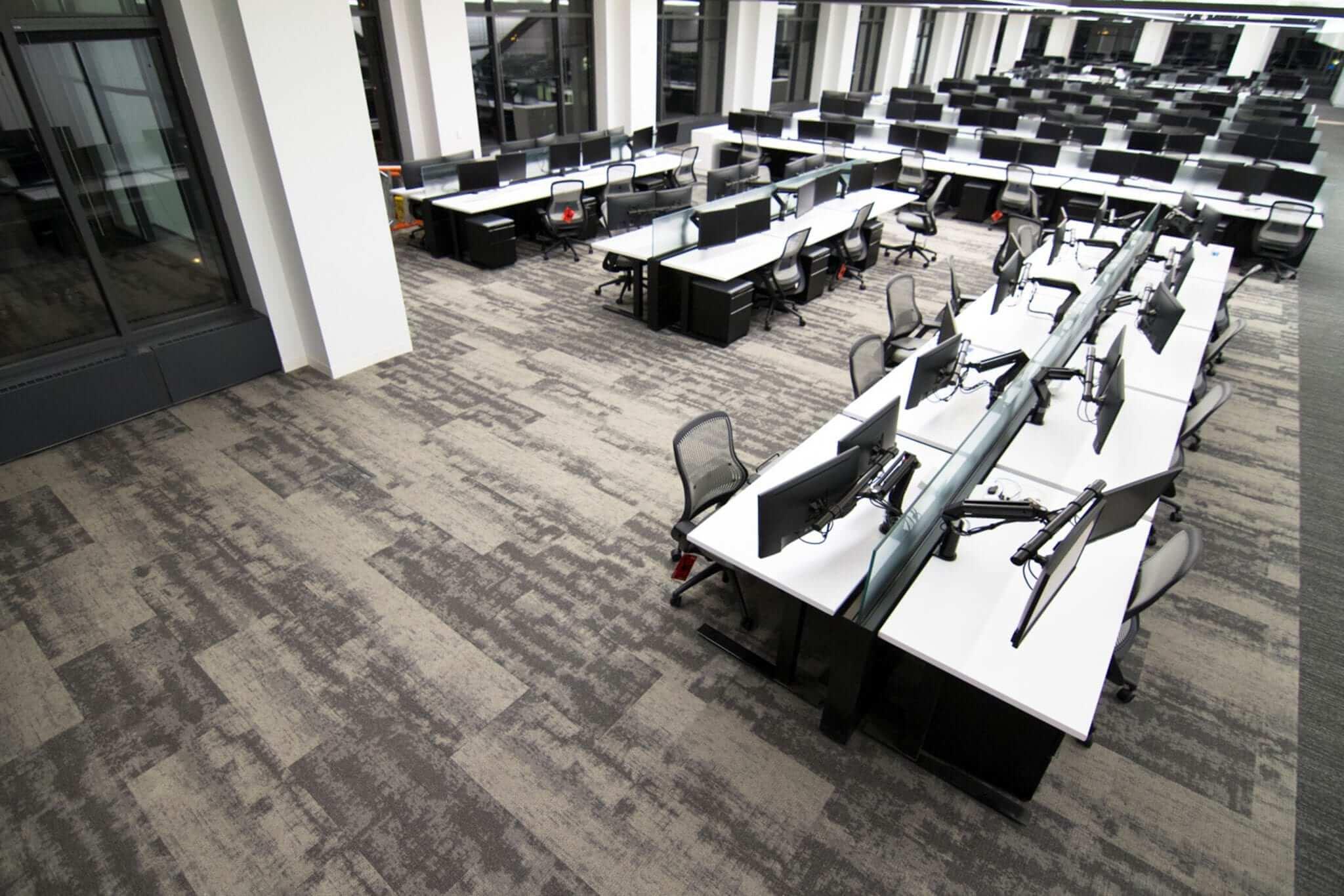 Raised Flooring in Bank Of America Trading Room