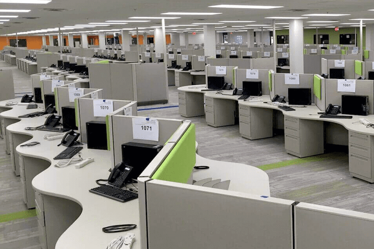 Call Center Access Flooring