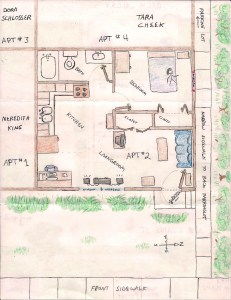 1 Bedroom Apartment Layout. CLICK TO ENLARGE