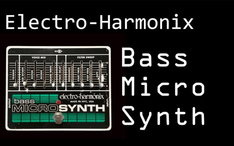 EHX bass micro synth demo