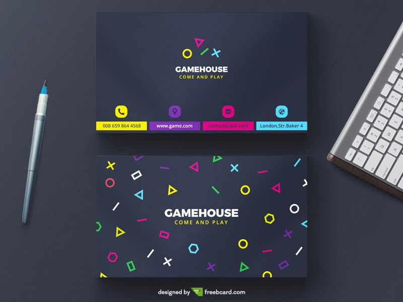 Creative Game Business Card Template Freebcard