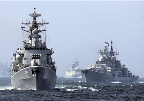 Image result for russia, china, navy operating together, photos